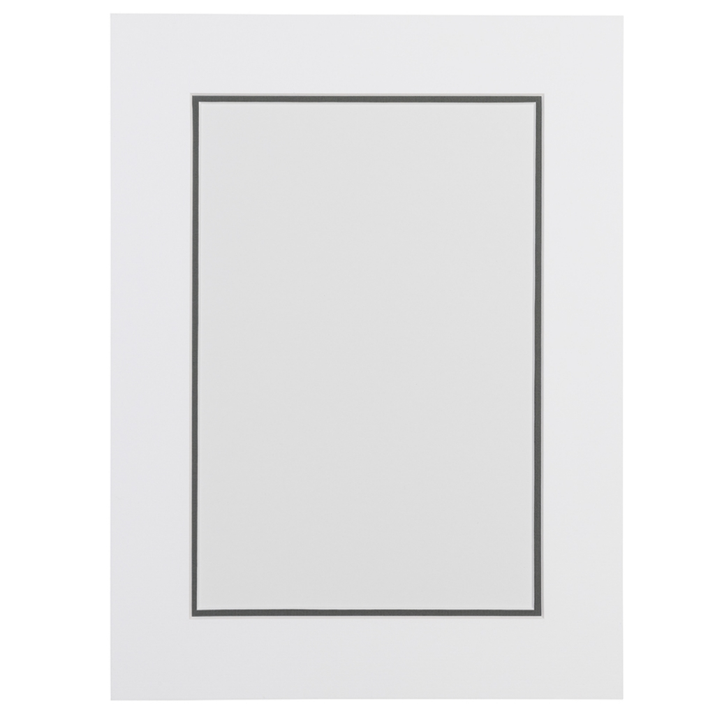 Wit en grijs dubbel passepartout met witte kern - Gang wit en grijs ...