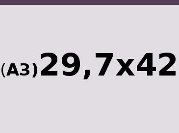 A3 29,7x42 cm