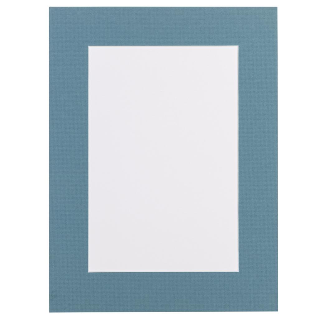 Hollands blauw Passepartout met witte kern