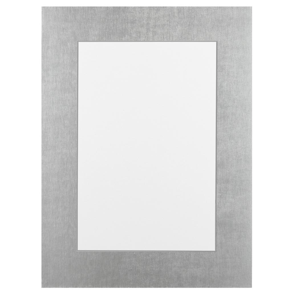 Glans zilver Passepartout met witte kern
