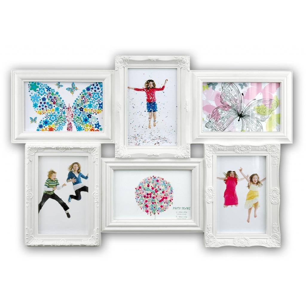 Collage fotolijst Almeria White 6x 10x15 foto