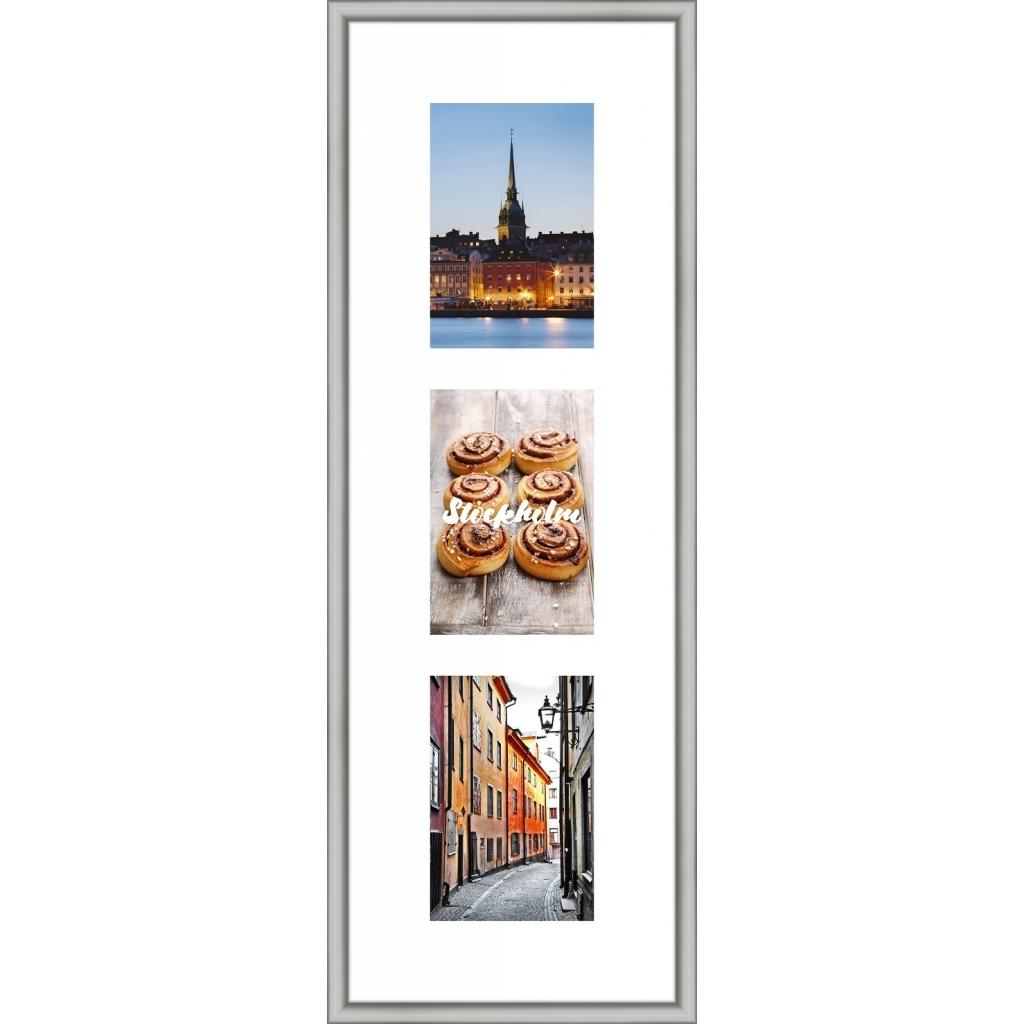 Collagelijst Zilver met passepartout - 3x 10x15 foto's