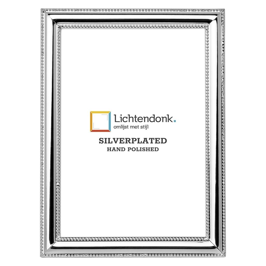 Silverplated Fotolijst Venetië - Parelrandje - 20x25
