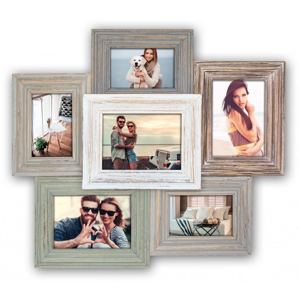 Houten Collage fotolijst Meridien 3x10x15 3x 13x18 foto