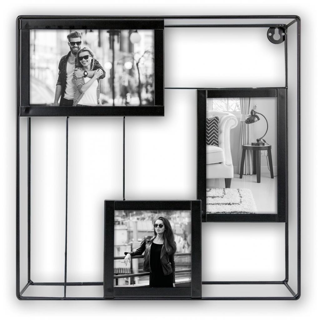 Metaal Collage fotolijst Palmer 2x 10x15 1x 10x10 foto