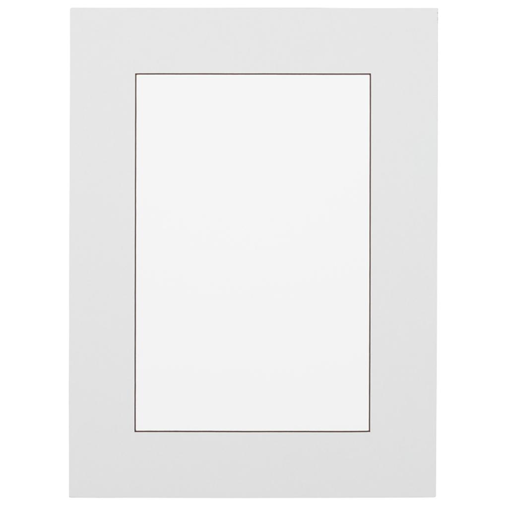 Wit met donkerbruine kern  Passepartout