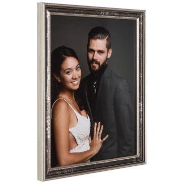 Zilver/grijze fotolijst, 15mm breed
