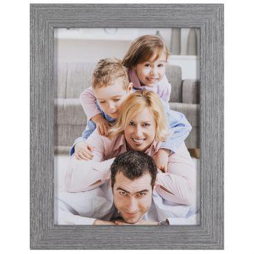 Geribbeld grijs/zilver fotolijst, 24mm breed