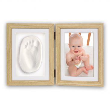 Dubbele fotolijst Abel 2x 10x15 foto - met voet- of handafdruk