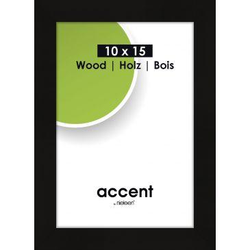 Fotolijst Accent Wood Zwart - 10x15