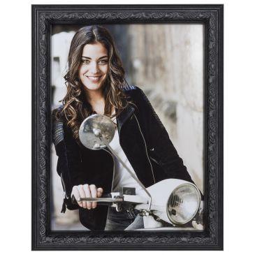 Zwart-barok-fotolijst-1,8cm-A4 (21x29,7)
