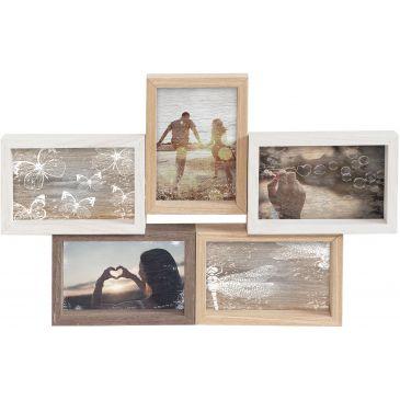 Houten Collage fotolijst Parijs 5x 10x15 foto