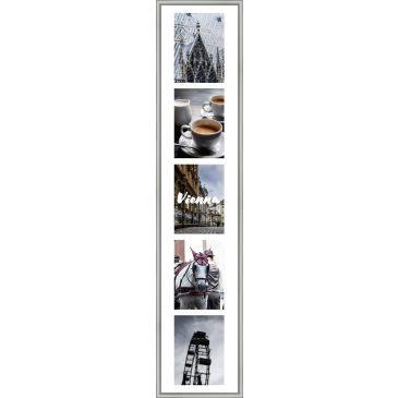 Collagelijst Zilver met passepartout - 5x 13x18 foto's
