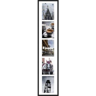 Collagelijst Zwart met passepartout - 5x 13x18 foto's