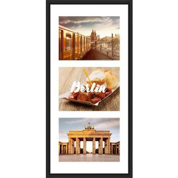 Fotolijst met passepartout voor 3x 13x18 foto's