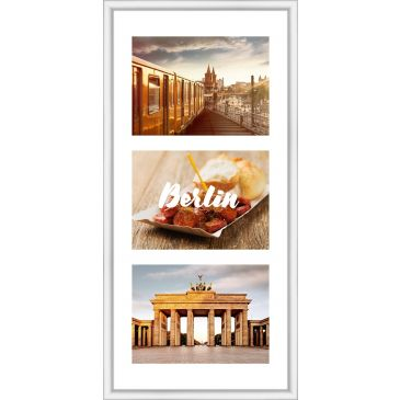 Collagelijst Wit met passepartout - 3x 13x18 foto's