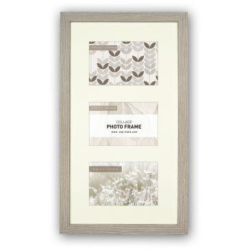 Collagelijst Grijs met Passepartout - fotomaat 10x15