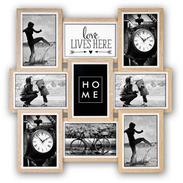 Houten Collage fotolijst Kimpton 9x 10x15 foto