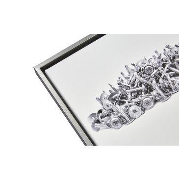 Baklijst zwart met zilver (houtnerf)
