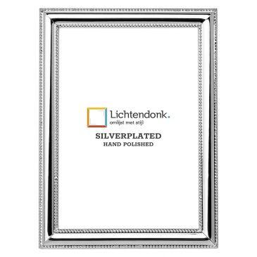 Silverplated Fotolijst Venetië - Parelrandje - 13x18