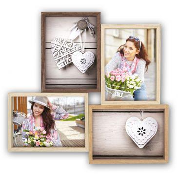 Collage fotolijst Montreaux 4q 4x 10x15 foto