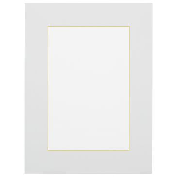 Wit met gele kern passepartout
