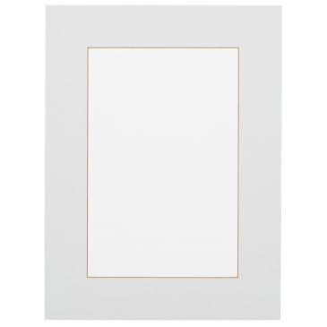 Wit met okerkleurige kern  Passepartout