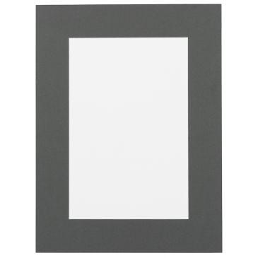 Staal Grijs Passepartout met witte kern
