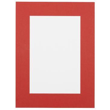Ferrari rood  Passepartout met witte kern
