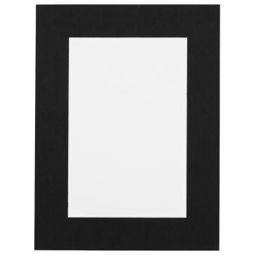 Zwart linnen  Passepartout