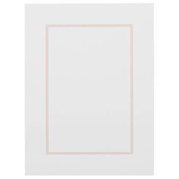 Wit en roze Dubbel Passepartout met witte kern