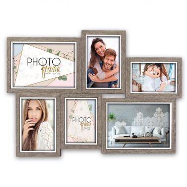 Collage fotolijst Varel 2x 10x15 2x 9x13 2x 13x18
