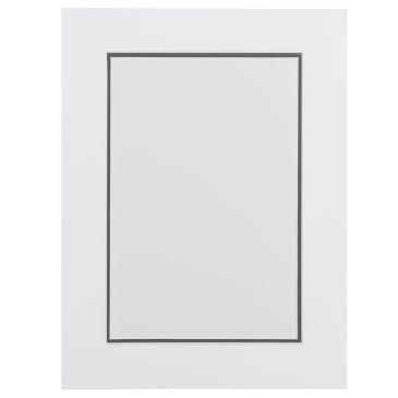 Wit en Grijs Dubbel Passepartout met witte kern