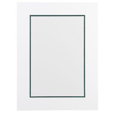 Wit en Jenever groen / donkergroen Dubbel Passepartout met witte kern