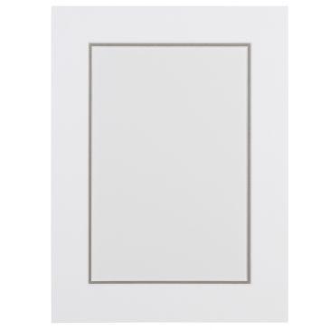 Wit en Cementgrijs Dubbel Passepartout met witte kern