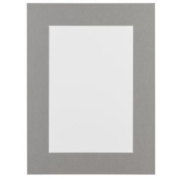 Cementgrijs Passepartout met witte kern