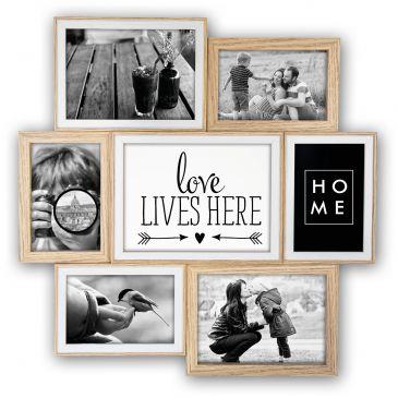Houten Collage fotolijst Watson 4x 10x15; 2x 13x18 1x 15x20 foto