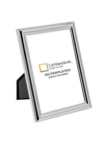 Silverplated Fotolijst Venetië - Parelrandje - 10x15